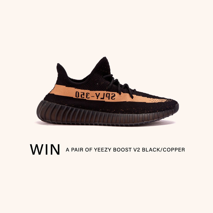 Win a pair of YEEZY Boost 350 V2 Black/Copper