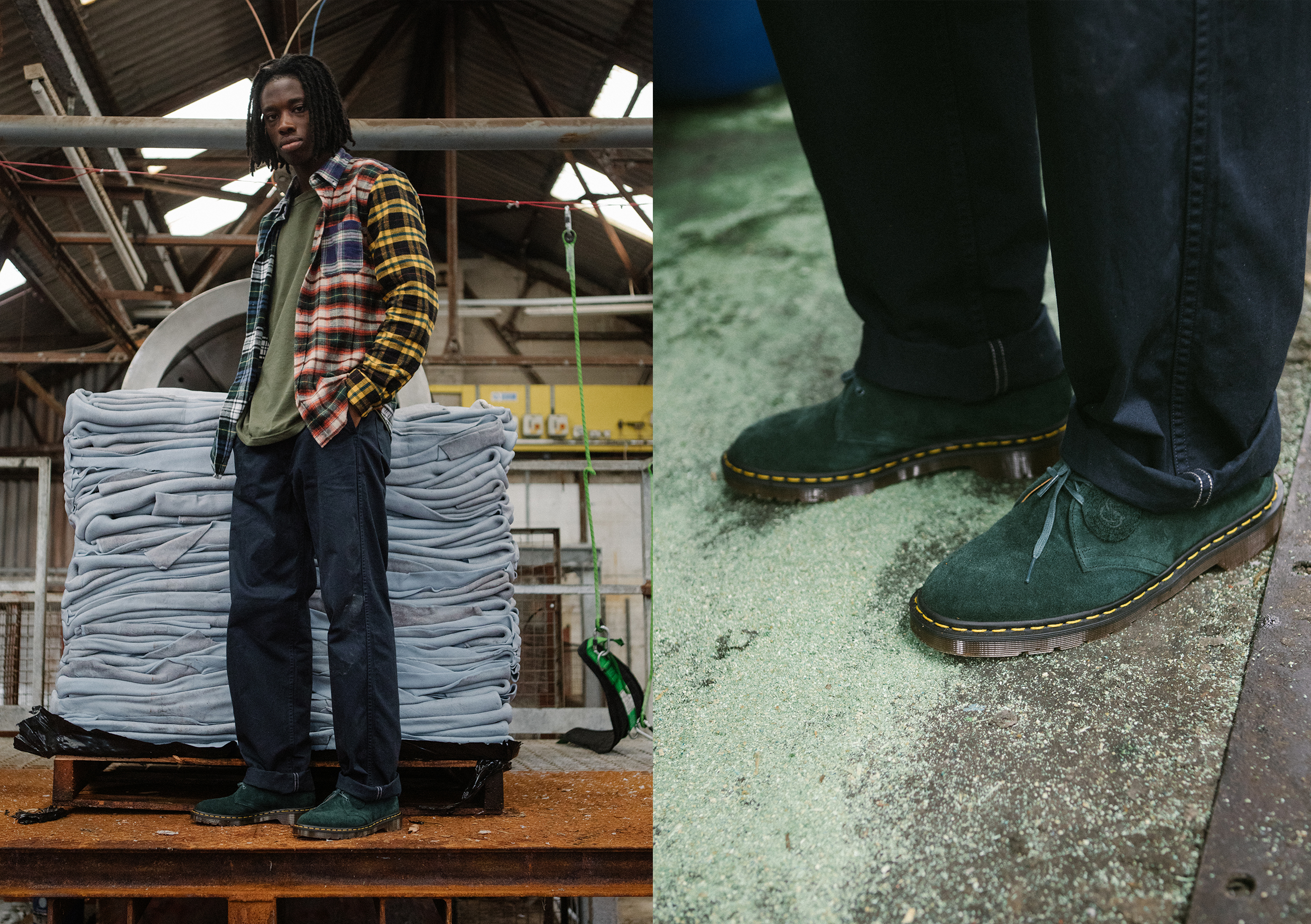 Hip Dr Martens 1461 shoot at the C.F. Stead Tannery in Leeds