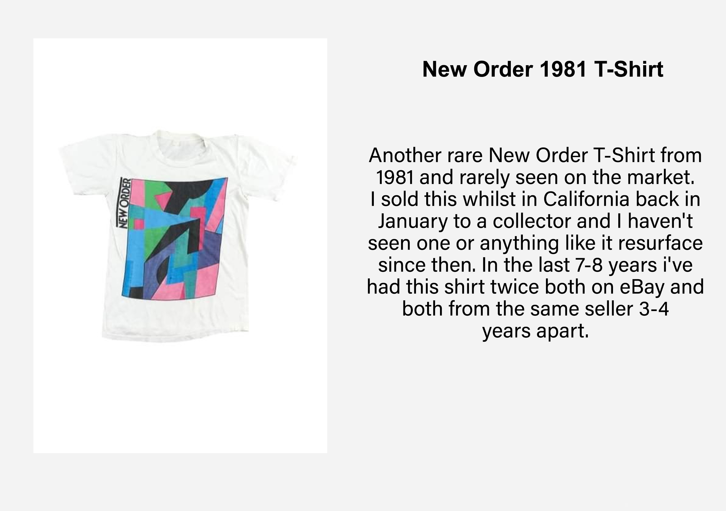 HIP Exploring The World Of Vintage New Order Merch With Ladi Kazeem