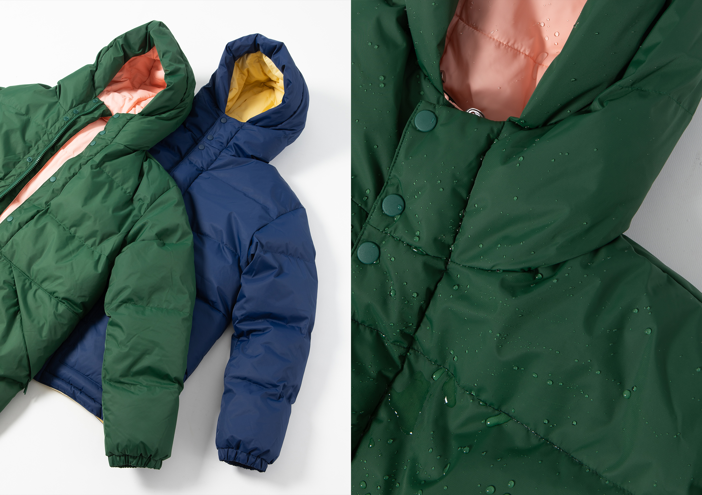 SHU winter jacket close up droplets HIP