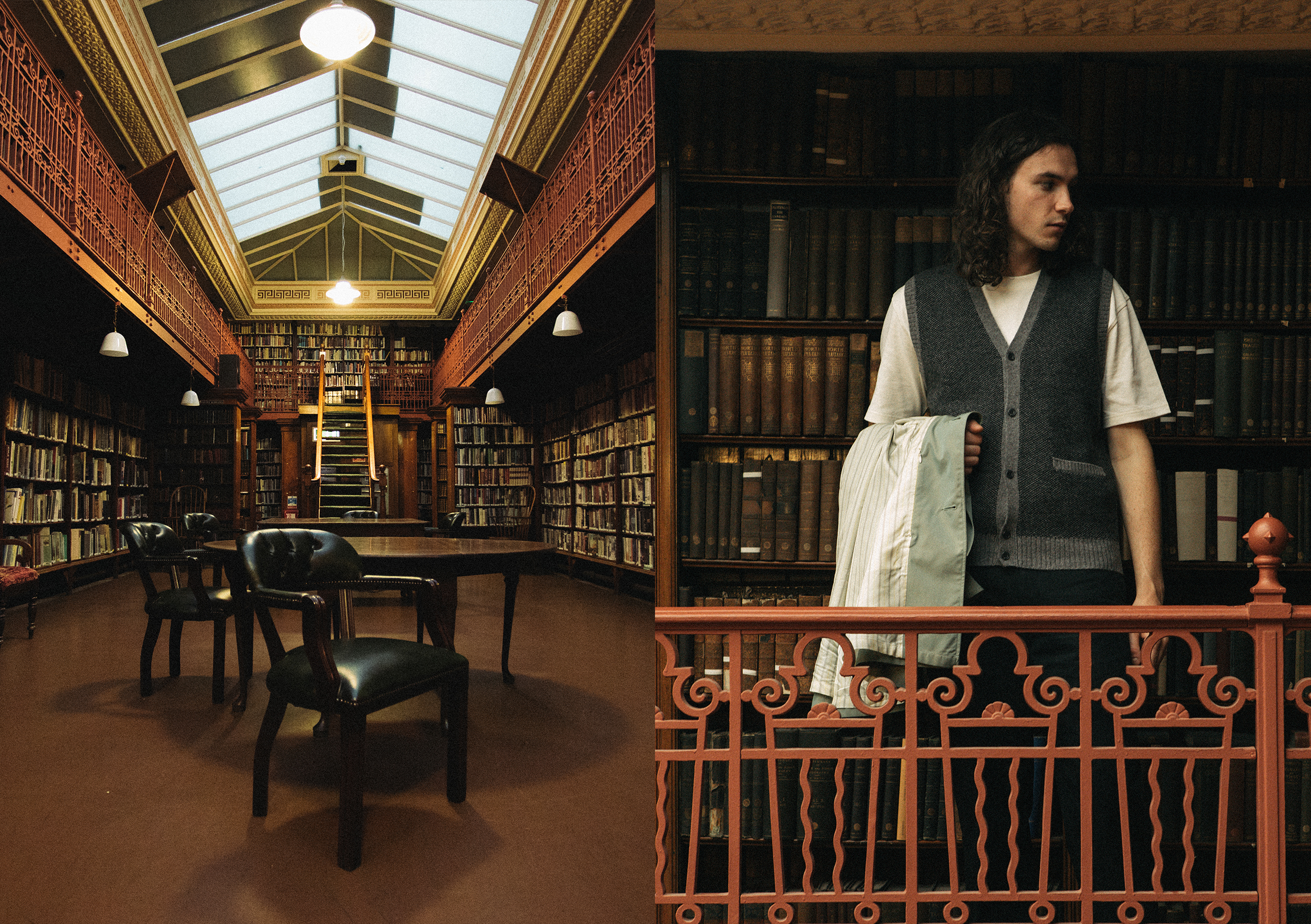 beams plus AW20 editorial at Leeds library