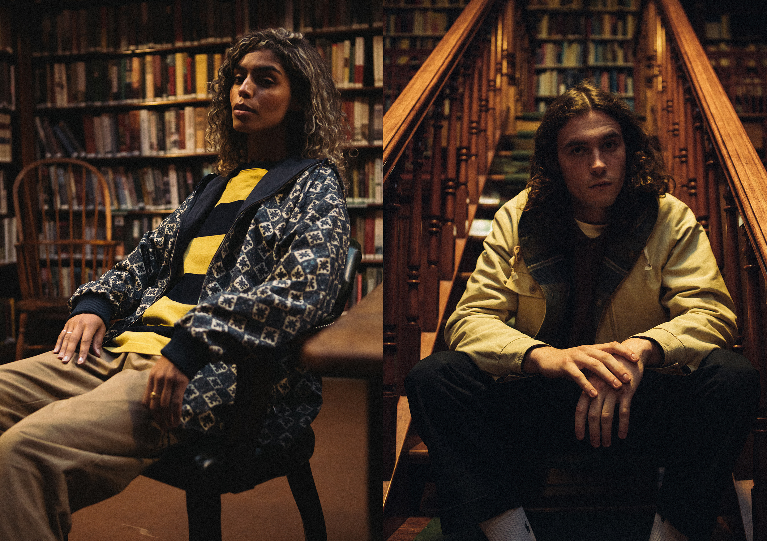 beams plus AW20 zip blouson editorial at Leeds library