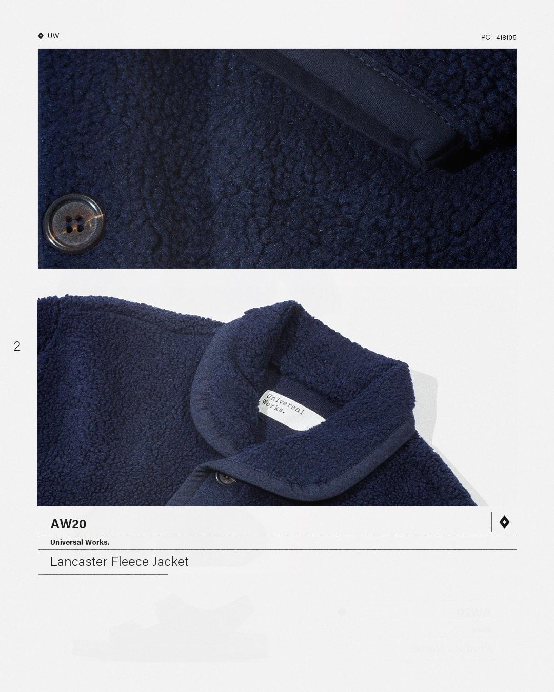 HIP Staff Picks: Universal Works AW20 Lancaster Fleece