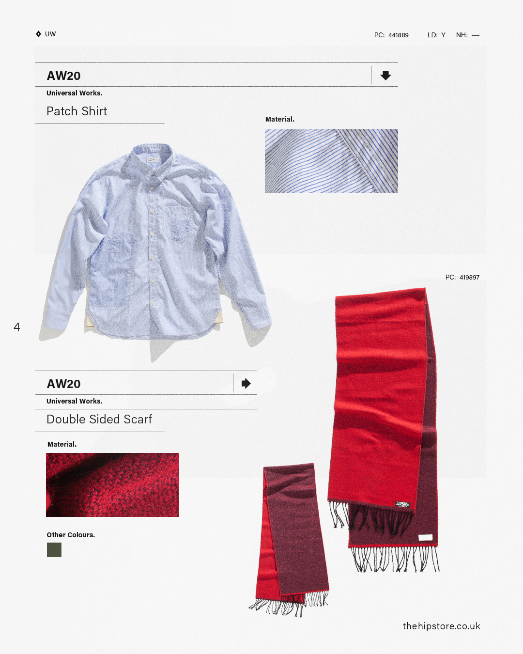 HIP Staff Picks: Universal Works AW20 Patch Shirt Double Sided Scarf