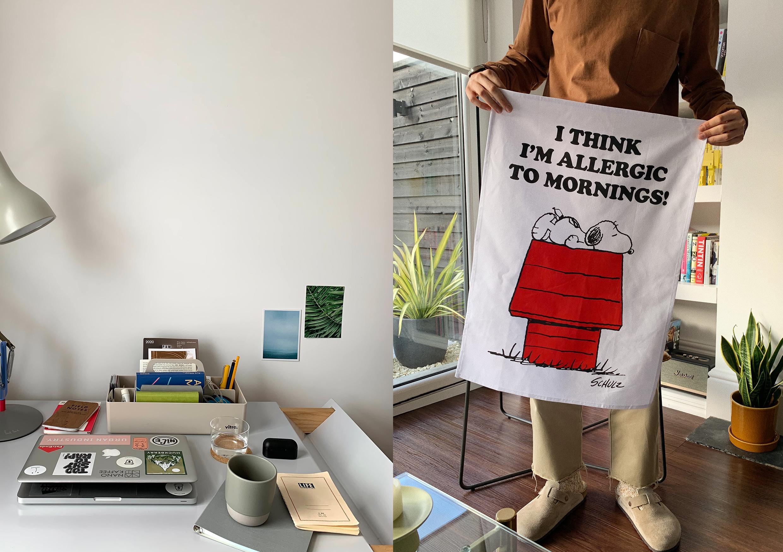 HIP Matthew Spade Buckets desk tea towel peanuts